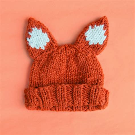 chunky knit free patterns chunky foxy hat pattern sincerely louise