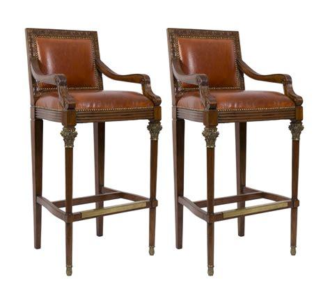 Elegant Bar Stools by Regent Antiques Sofas And Stools Elegant Pair Mahogany