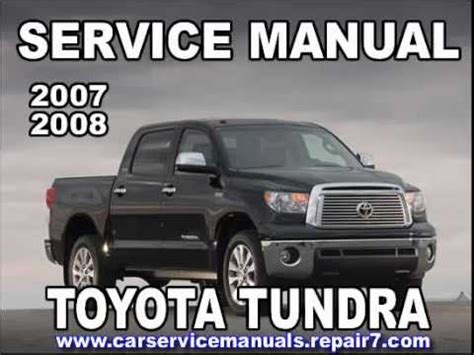 service manual how does cars work 2008 toyota avalon on board diagnostic system 2010 toyota toyota tundra 2007 2008 service manual car service youtube