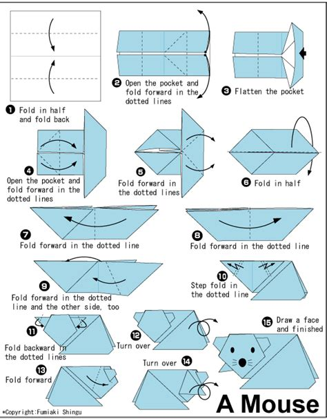 how to make an origami mouse mouse easy origami for