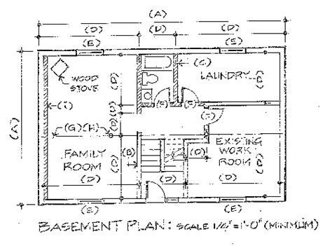 basement floor plan drawing requirements