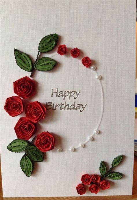 how to make paper quilling cards 25 best ideas about quilled roses on quilling