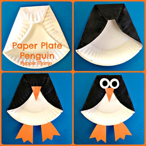 craft work with paper plate penguin paper plate craft for from huppie
