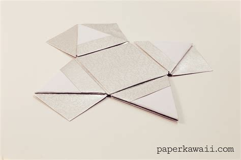 origami pyramid modular origami pyramid box tutorial paper kawaii