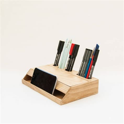 wood desk organizer wood handmade desk organizer office modern desk organizer