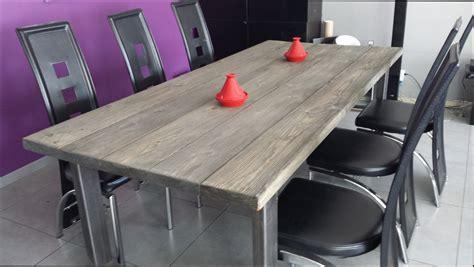 table bois table a manger bois brut pas cher