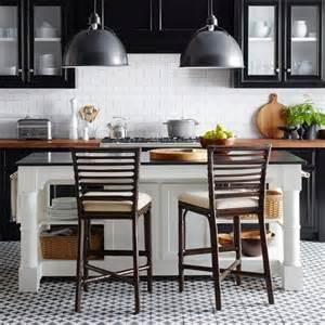 Black Kitchen Island With Granite Top barrelson white kitchen island with black granite top