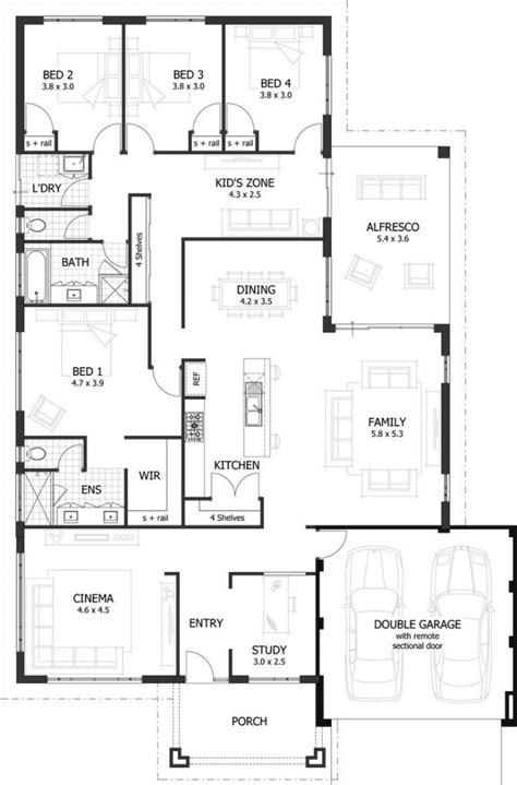 best floor plans for homes lovely 4 bedroom floor plans for a house new home plans design