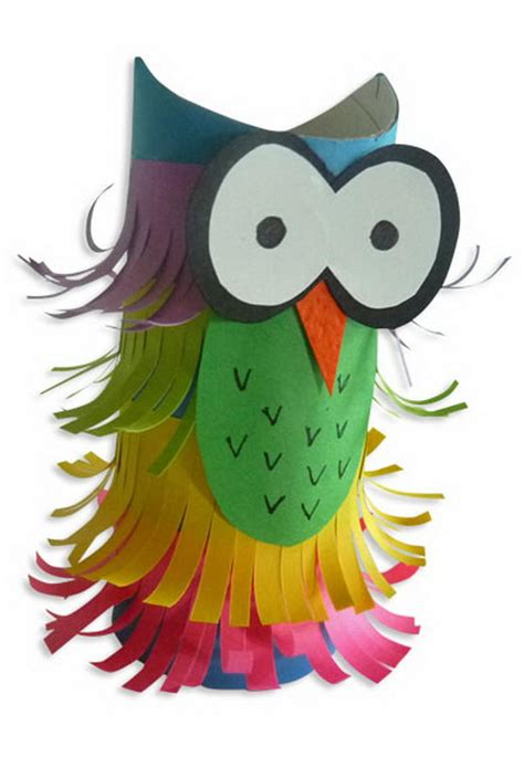 paper owl craft 60 animal themed toilet paper roll crafts hative