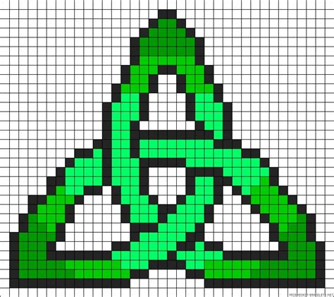 celtic bead patterns celtic knot design perler bead pattern luck of the