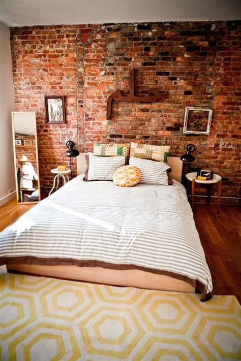 exposed brick bedroom 69 cool interiors with exposed brick walls digsdigs