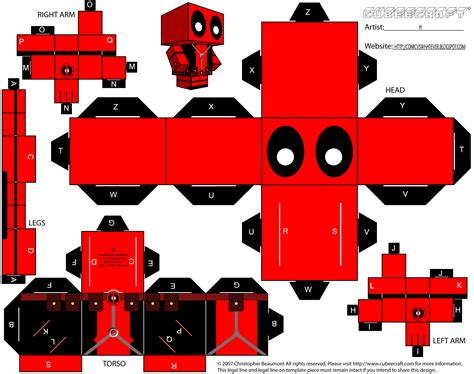 www paper craft cubecraft deadpool papercraft deadpool papercraft toys