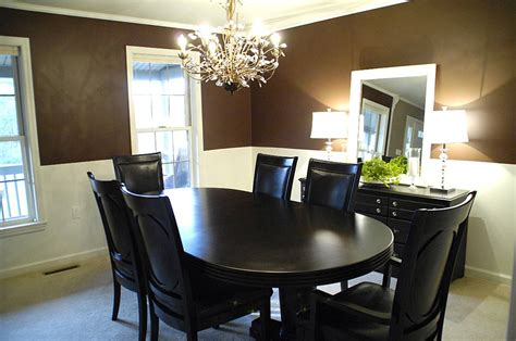 paint colors for dining rooms with chair rail dining room improvements plus molding tutorial beneath