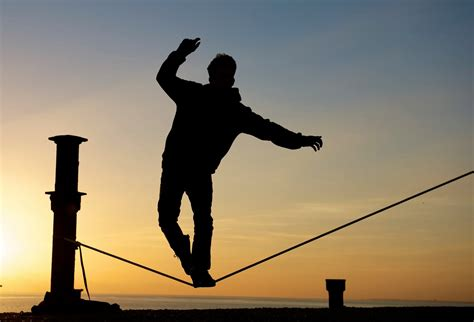 tight rope walking the tightrope of faith mike fleischmann