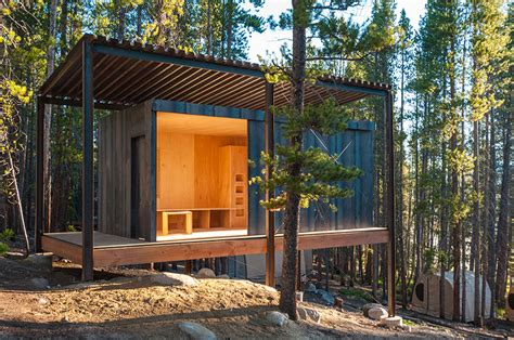 Raised Cottage House Plans 14 prefab micro cabins in colorado woods showcase student