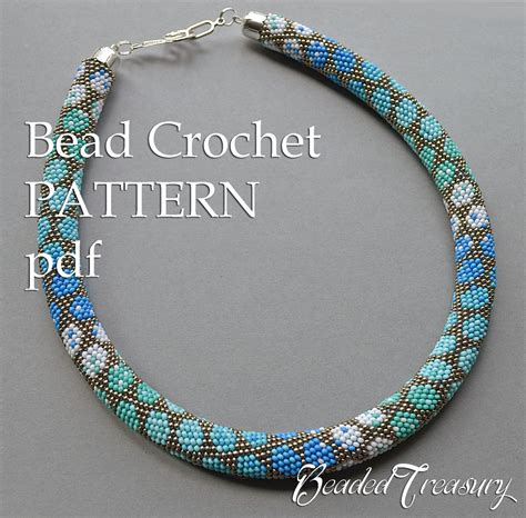 how to bead crochet pattern for bead crochet necklace city style