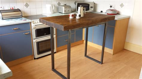 bar height tables for kitchens rustic breakfast bar table kitchen island by