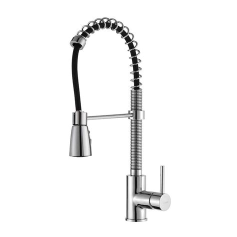 three kitchen faucets kraus commercial style single handle pull kitchen