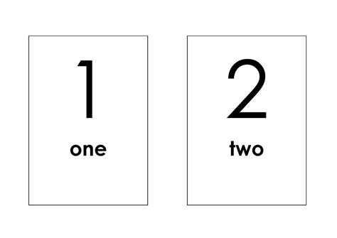 number templates for card printable number flash cards 1 10