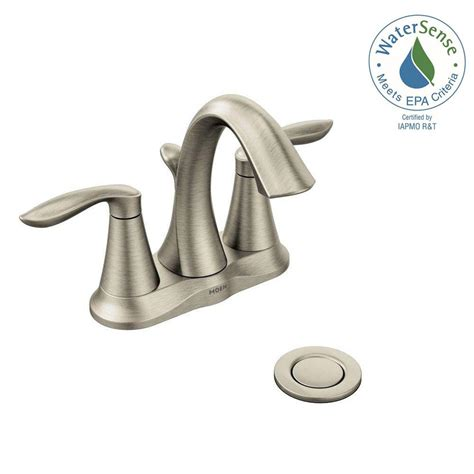 moen kitchen faucet brushed nickel moen 4 in centerset 2 handle high arc bathroom faucet