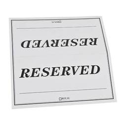 6 quot x 3 quot table tent sign quot reserved quot double sided 250 pack
