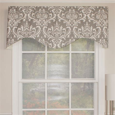 damask kitchen curtains rlf home royal damask cornice 50 quot curtain valance