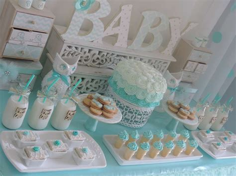 welcome home owl baby shower ideas ombre aqua   Baby Shower Ideas   Themes   Games