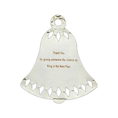 personalized silver ornaments personalized bell ornament silver or gold