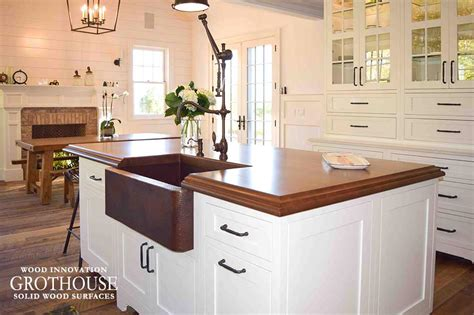 wood top kitchen island stained cherry wood kitchen island top in east hton ny