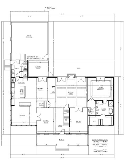 large kitchen house plans small house plans large great room