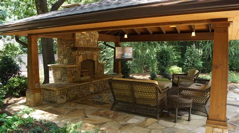 outdoor living spaces outdoor living spaces with water feature and greens