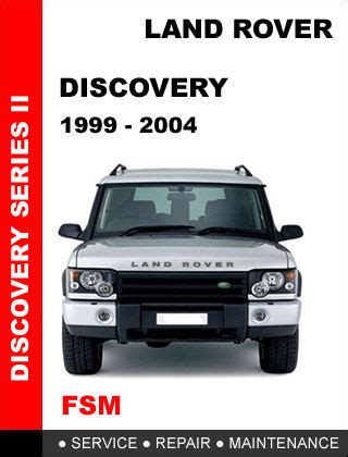 land rover discovery 2 1999 2004 factory service repair workshop pdf manual other books