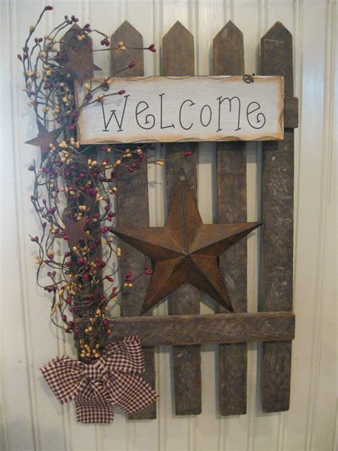 country craft projects wall fence primitives