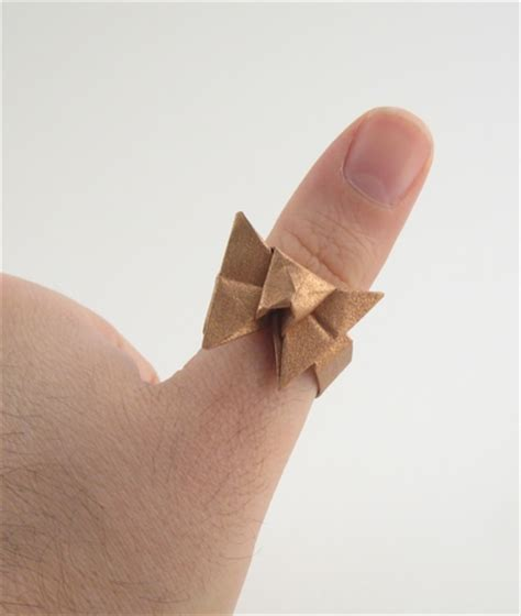 how to make a paper ring origami origami rings gilad s origami page