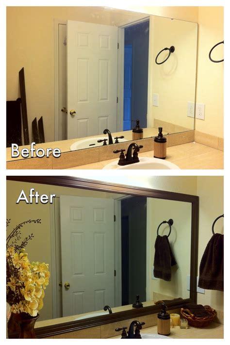 diy bathroom mirrors miscellanea etcetera diy bathroom mirror frame for less