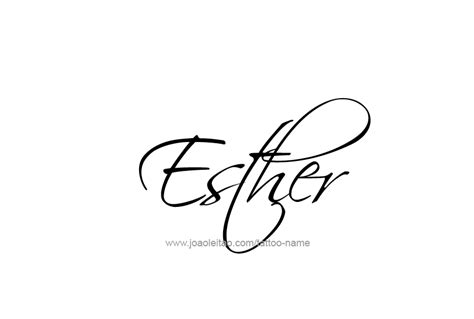 esther name tattoo designs
