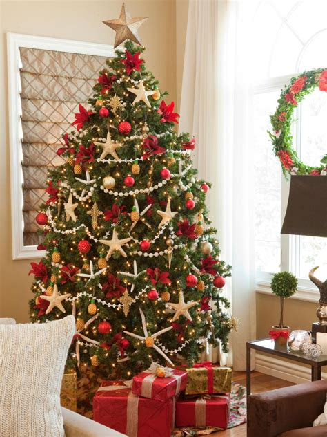 best colors for tree decorations tree themes hgtv