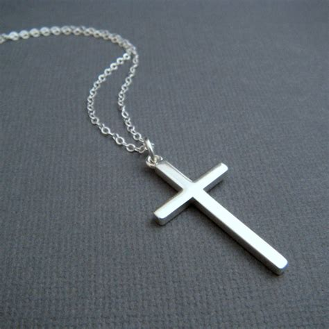 cross pendants for jewelry silver cross necklace large sterling silver smooth modern