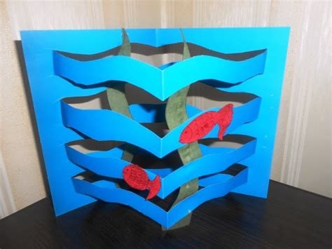 simple craft ideas with paper diy paper aquarium for easy paper craft ideas for