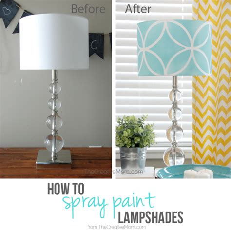 spray paint l shade how to stencil a lshade the creative