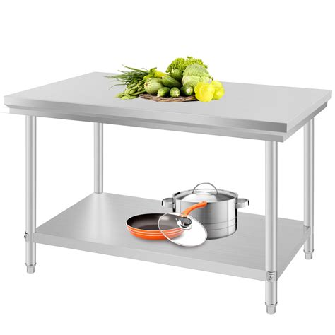stainless steel kitchen work table stainless steel commercial kitchen work food prep table