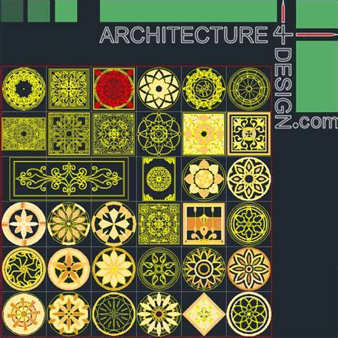 2d design free 77 flooring design patterns for autocad dwg file