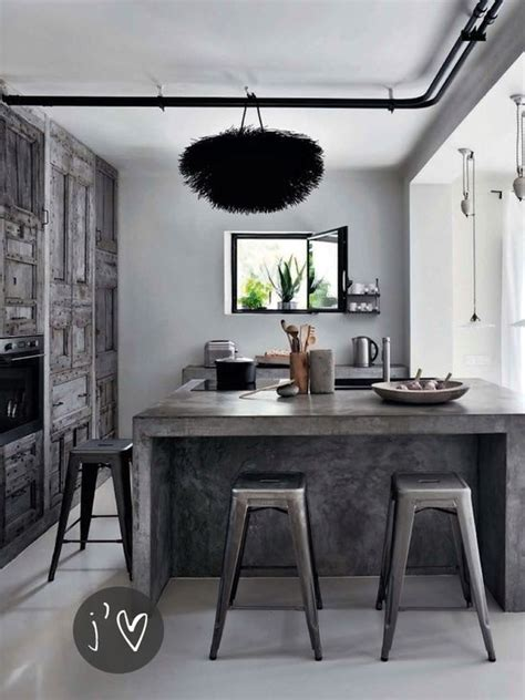 industrial kitchen island go beyond the common aesthetics with concrete kitchen islands