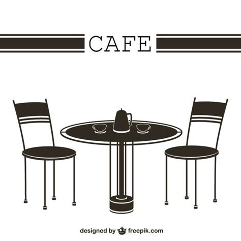 Dining Room Tables Retro cafe table and chairs vector free download