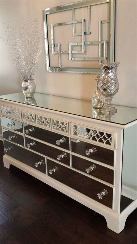 mirrored bedroom dresser mirrored dresser white with overlay chic