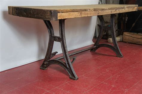 industrial kitchen work table industrial steel workbench kitchen island table at 1stdibs