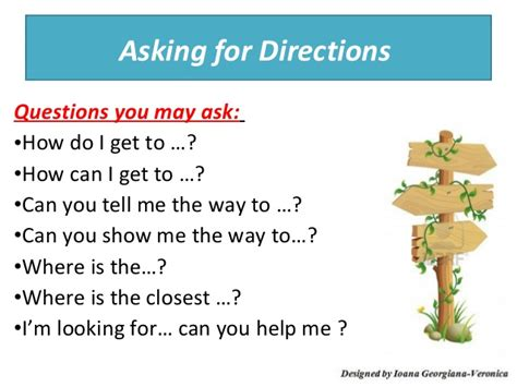 how can i asking giving directions