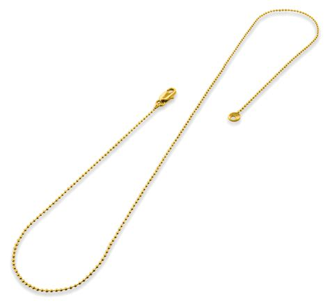 gold bead chain gold plated 16 quot bead chain necklace 1 20mm