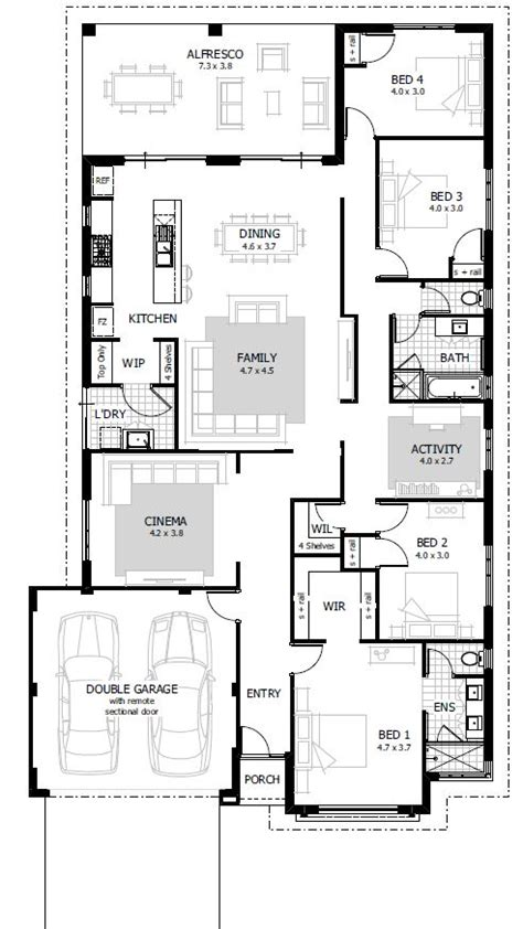 house plans with 4 bedrooms simple 4 bedroom house designs homes floor plans