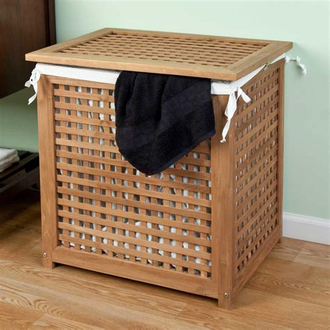 laundry hers with lid teak laundry her with lid laundry organize